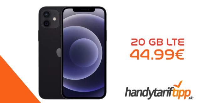Apple iPhone 12 für 139€ Zuzahlung & Apple 18W USB-C Power Adapter mit Vodafone Smart XL Aktion (20 GB LTE mit 500 Mbit/s) für 44,99€ monatlich - Effektiv unter 7 Euro mtl.