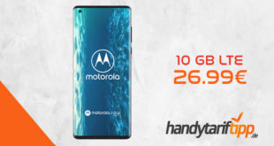 MOTOROLA Moto Edge 5G mit 10 GB LTE nur 26,99€