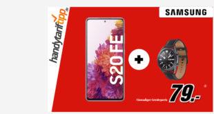 Samsung Galaxy S20 FE & Samsung Galaxy Watch3 mit bis zu 40 GB LTE nur 34,99€ monatlich