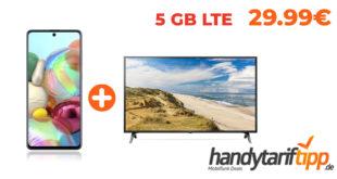 "Samsung Galaxy A71 & 43"" Zoll LG 4K Smart TV inkl. 5GB LTE für nur 29,99€ mtl."