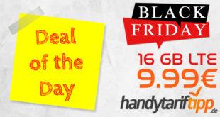 Black Friday Highlight: Noch nie dagewesene 16 GB LTE für 9,99€ - auch ohne Vertragslaufzeit