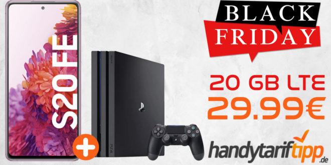 SAMSUNG GALAXY S20 FE & SONY PS4 Playstation 4 Pro 1TB mit bis zu 20 GB LTE nur 29,99€ monatlich - Telekom, Vodafone und Telefonica o2 Netz