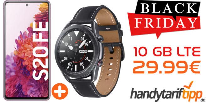 SAMSUNG GALAXY S20 FE & SAMSUNG Galaxy Watch 3 45 mm LTE mit 10 GB LTE im Telekom oder Vodafone Netz nur 29,99€ monatlich