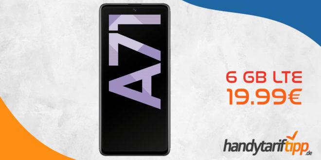 SAMSUNG Galaxy A71 mit 6 GB LTE nur 19,99€