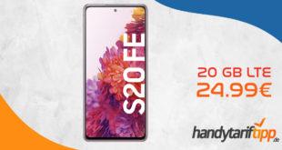 Samsung Galaxy S20 FE & 100€ Samsung-Pay-Guthaben mit 20 GB LTE nur 24,99€