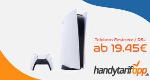 Sony Playstation 5 mit Telekom Festnetz Magenta Zuhause M bis zu 50 MBit/s oder Magenta Zuhause L bis zu 100 MBit/s für nur 4,95€ Zuzahlung