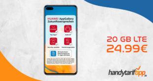 Huawei P40 mit 20 GB LTE nur 24,99€ monatlich