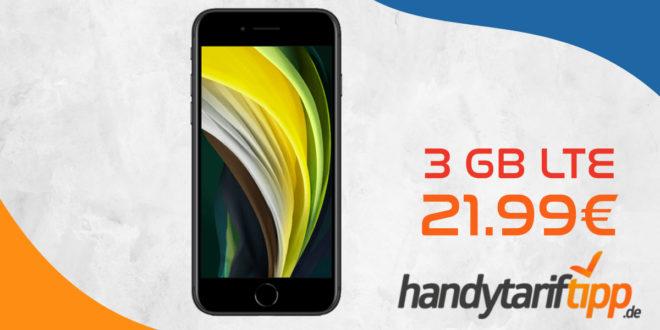 Apple iPhone SE mit 3 GB LTE nur 21,99€ monatlich