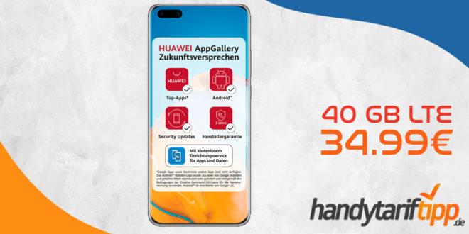 HUAWEI P40 PRO mit 40 GB LTE nur 34,99€ monatlich