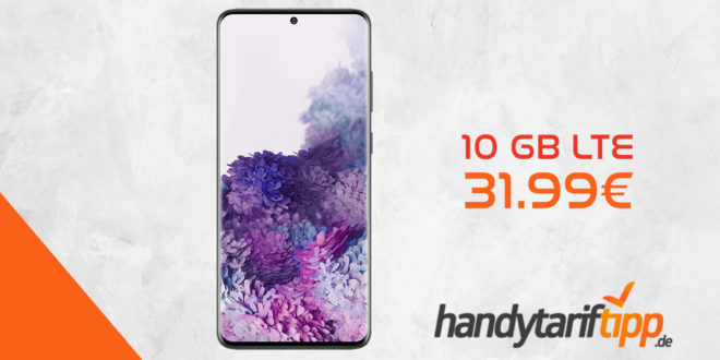 SAMSUNG Galaxy S20+ (S20Plus) mit 10 GB LTE nur 31,99€