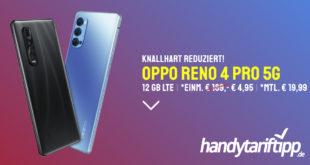 OPPO RENO 4 PRO 5G mit 12 GB LTE nur 19,99€