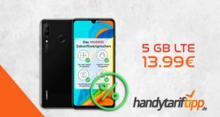 Huawei P30 Lite New Edition 256GB mit 5 GB LTE nur 13,99€ monatlich