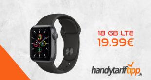 Apple Watch SE GPS 40 mm mit 18 GB LTE im Telekom Netz nur 19,99€