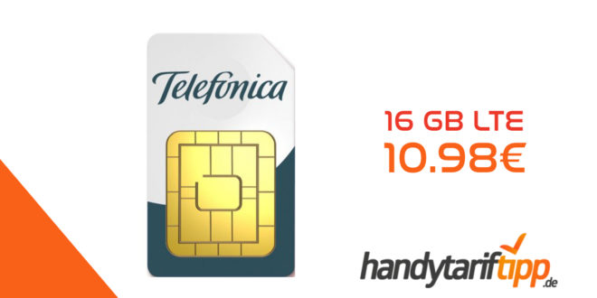 16 GB LTE plus Allnet Flat nur 10.98€ monatlich
