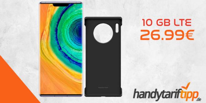 Huawei Mate30 Pro & Huawei Mate30 Pro Cover mit 10 GB LTE nur 26,99€