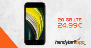 APPLE iPhone SE (2020 Edition) mit 20 GB LTE nur 24,99€