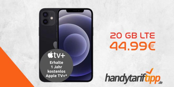 Apple iPhone 12 5G (128 GB) für 129€ Zuzahlung + Apple 20 W USB-C Power Adapter mit Vodafone Smart XL (20 GB mit 500 Mbit/s) für 44,99€ monatlich