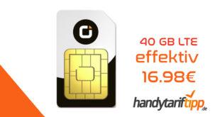 40GB LTE & Allnet Flat im Vodafone Netz effektiv nur 16,98€ mtl.