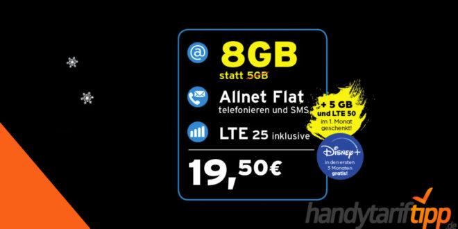 Smartphone mit 8 GB LTE im Telekom Netz nur 19,50€ monatlich