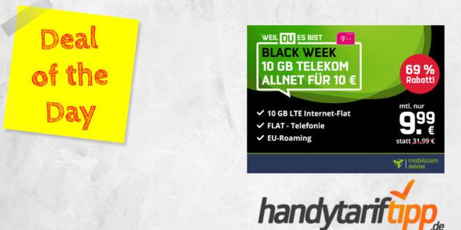 Black Week Knaller! Telekom 10 GB LTE Allnet Flat für 9,99€