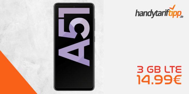 SAMSUNG Galaxy A51 mit 3 GB LTE nur 14,99€ monatlich