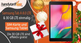 Samsung Tab A 8.0 LTE & my Prepaid-Internet-to-go (30 GB LTE für 12 Monate) nur 169€ - Die 30 GB Datenvolumen sind effektiv kostenlos