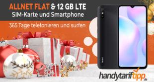 Prepaid Jahrespaket mit 12 GB LTE + Allnet-Flat inkl. Xiaomi Redmi 9A nur 119,99€ einmalig – volle Kostenkontrolle