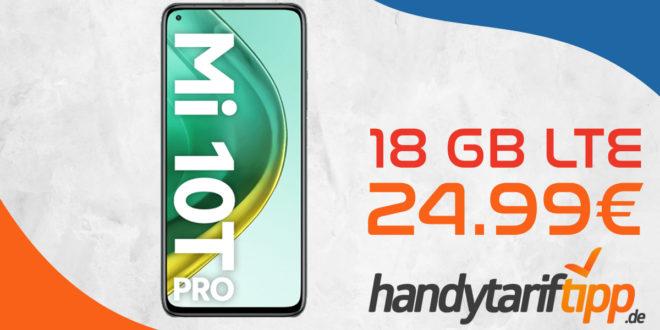 Xiaomi Mi 10T Pro mit 18 GB LTE für 24,99€ monatlich
