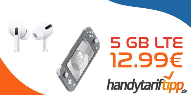 Apple AirPods Pro oder Nintendo Switch Lite mit 5 GB LTE nur 12,99€