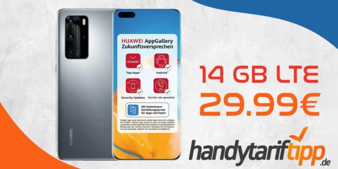 Huawei P40 Pro mit 14 GB LTE im Telekom Netz nur 29,99€ monatlich