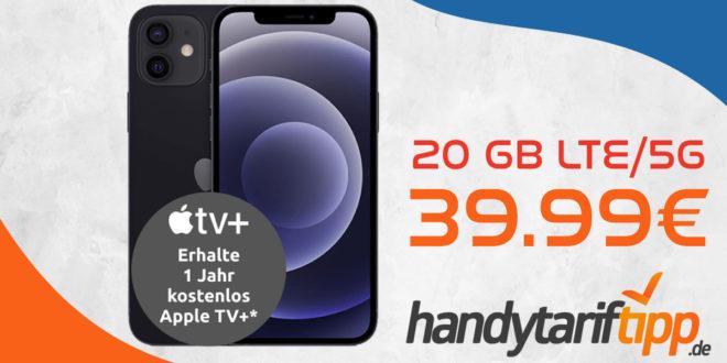 Apple iPhone 12 mini 5G mit 20 GB LTE/5G nur 39,99€ monatlich