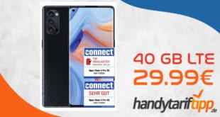 OPPO Reno4 Pro 5G 256GB mit 40GB LTE nur 29,99€