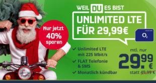 Nikolaus-Aktion! o2 Free Unlimited Max (monatlich kündbar) für nur 29,99€/Monat