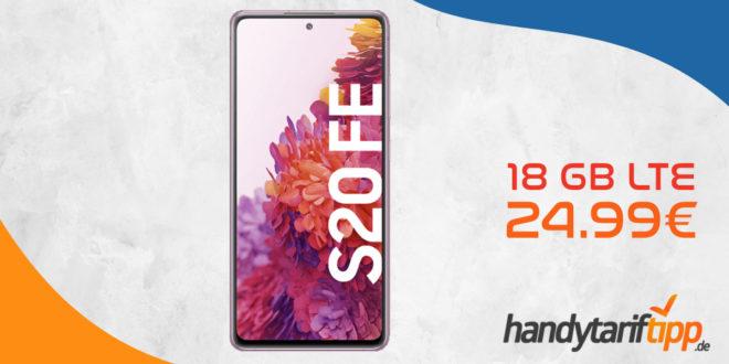 Samsung S20 FE 128 GB mit 18 GB LTE nur 24,99€ monatlich