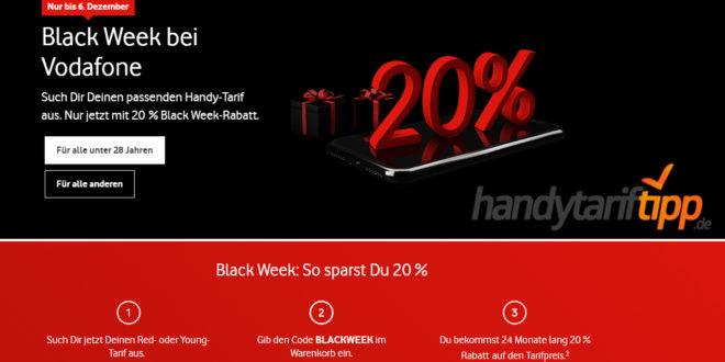 Cyber Week bei Vodafone: 20 % Grundgebühr-Rabatt – auch auf iPhone-Bundles
