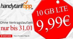 10GB LTE & Allnet monatlich kündbar – nur 9,99€ monatlich