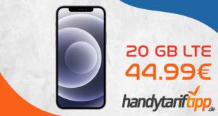 Apple iPhone 12 128GB mit Vodafone Vertrag 20 GB LTE nur 44,99€ monatlich