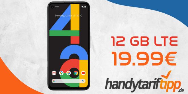 GOOGLE PIXEL 4A mit 12 GB LTE nur 19,99€ monatlich