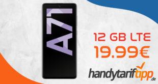 SAMSUNG GALAXY A71 mit 12 GB LTE nur 19,99€ monatlich
