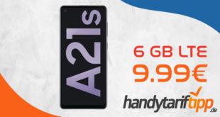 Samsung Galaxy A21s mit 6 GB LTE nur 9,99€ monatlich