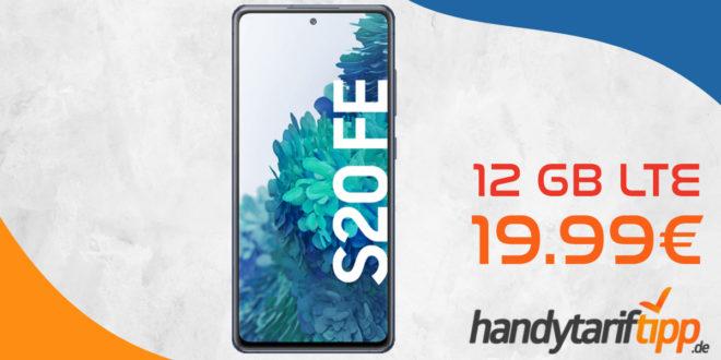 Samsung Galaxy S20 FE mit 12 GB LTE nur 19,99€ monatlich