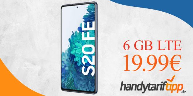 Samsung Galaxy S20 FE 128GB mit 6 GB LTE im Vodafone Netz nur 19,99€ monatlich