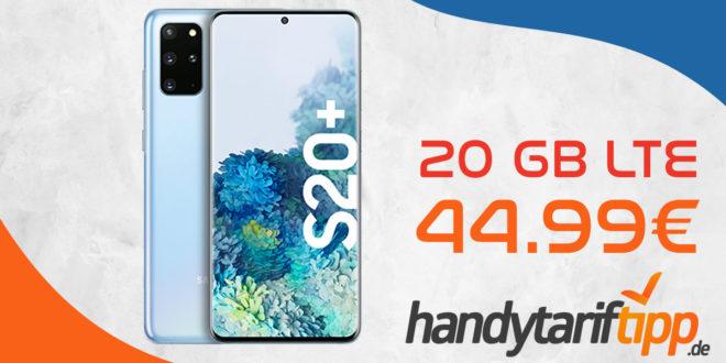 Samsung Galaxy S20+ (S20 Plus) mit Vertrag O2 Free M mit 20 GB LTE nur 44,99€ monatlich