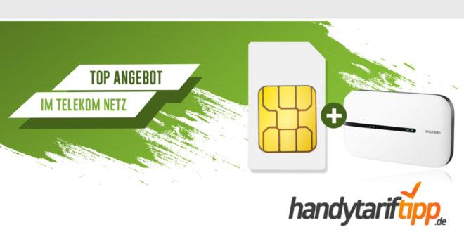 15GB Datenflat im Telekom Netz für nur 10,99€ - alternativ auch mit Hotspot Router