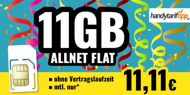 Allnet Flat mit 11 GB LTE für nur 11,11 EURMonat - ohne Vertragslaufzeit