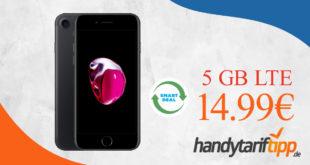 Apple iPhone 7 (Generalüberholt refurbished) mit 5 GB LTE nur 14,99€ monatlich