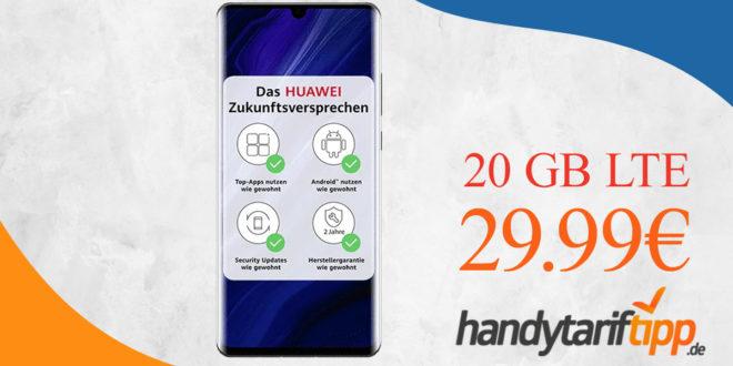 HUAWEI P30 Pro New Edition mit otelo-Vertrag & 20 GB LTE nur 29,99€ monatlich