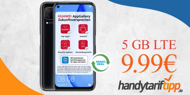 Huawei P40 lite mit 5 GB LTE nur 9,99€ monatlich