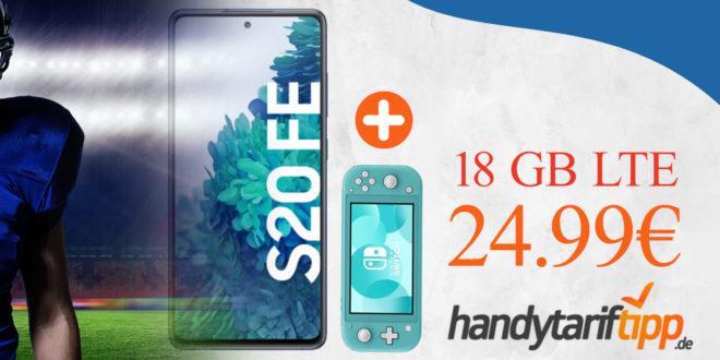 SAMSUNG GALAXY S20 FE & Nintendo Switch Lite mit 18 GB LTE nur 24,99€ monatlich