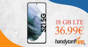 SAMSUNG GALAXY S21 5G mit 18GB LTE im Telekom oder Vodafone Netz nur 36,99€ monatlich - nur 1 Euro Zuzahlung